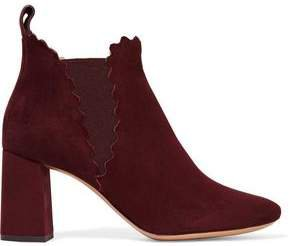 Lauren Scalloped Suede Ankle Boots