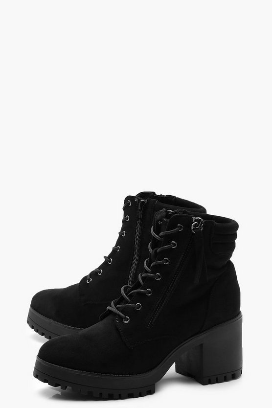 Lace Up Chunky Hiker Boots | Boohoo