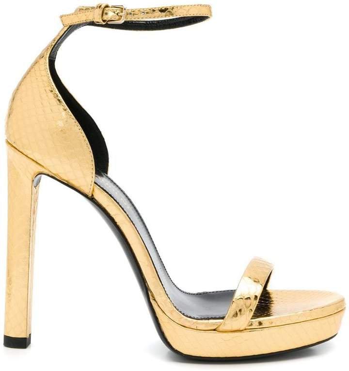 snake pattern sandals