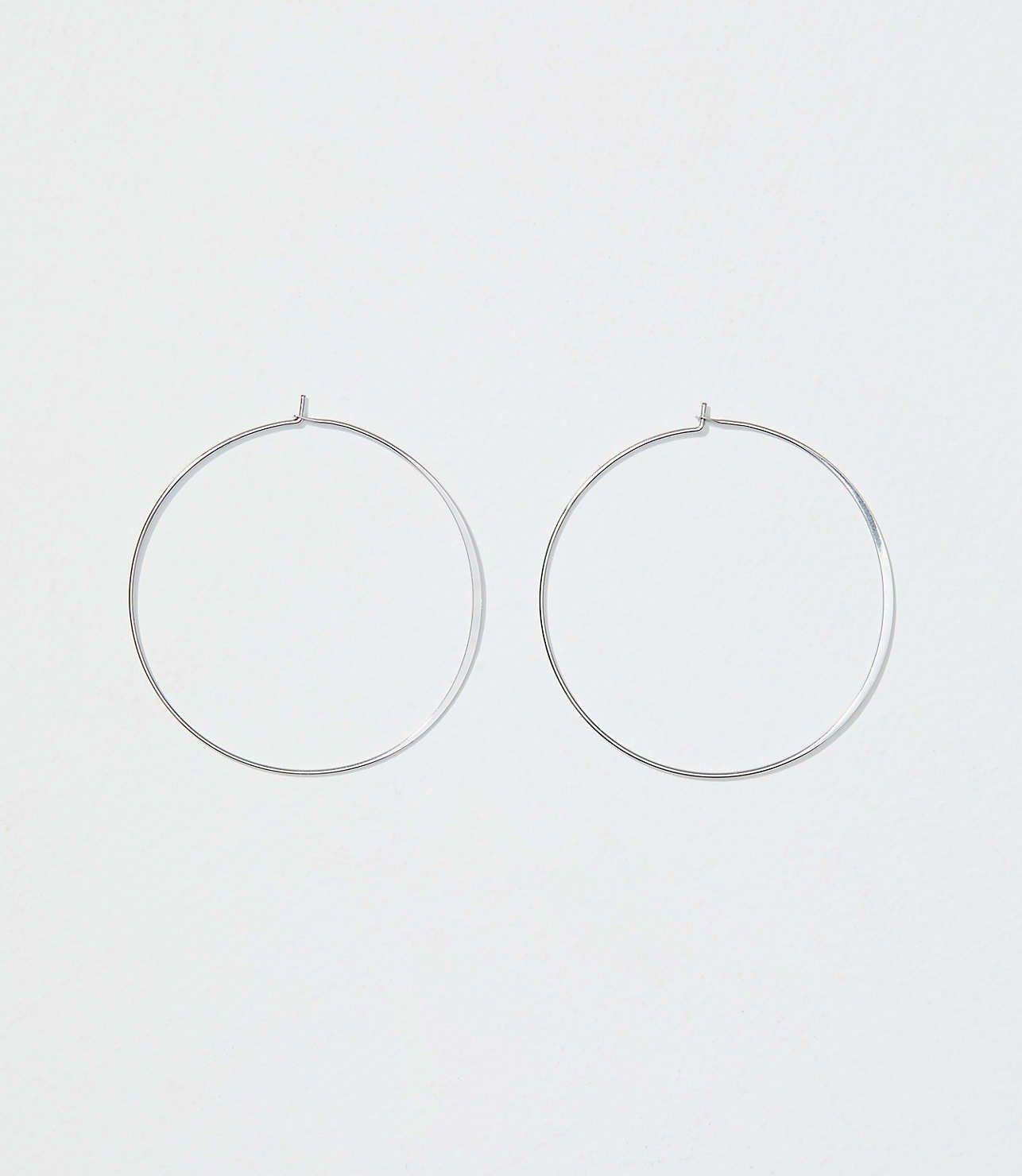 Thin Hoop Earrings | LOFT