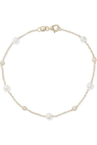Mateo | 14-karat gold, pearl and diamond bracelet | NET-A-PORTER.COM