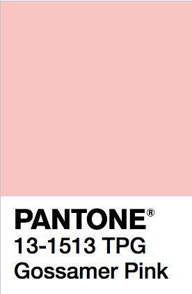 PANTONE Color: Gossamer Pink