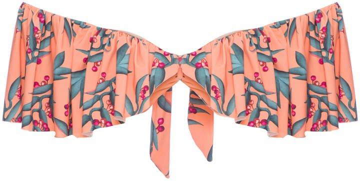 PatBO Off-the-Shoulder Bikini Top Size: XS