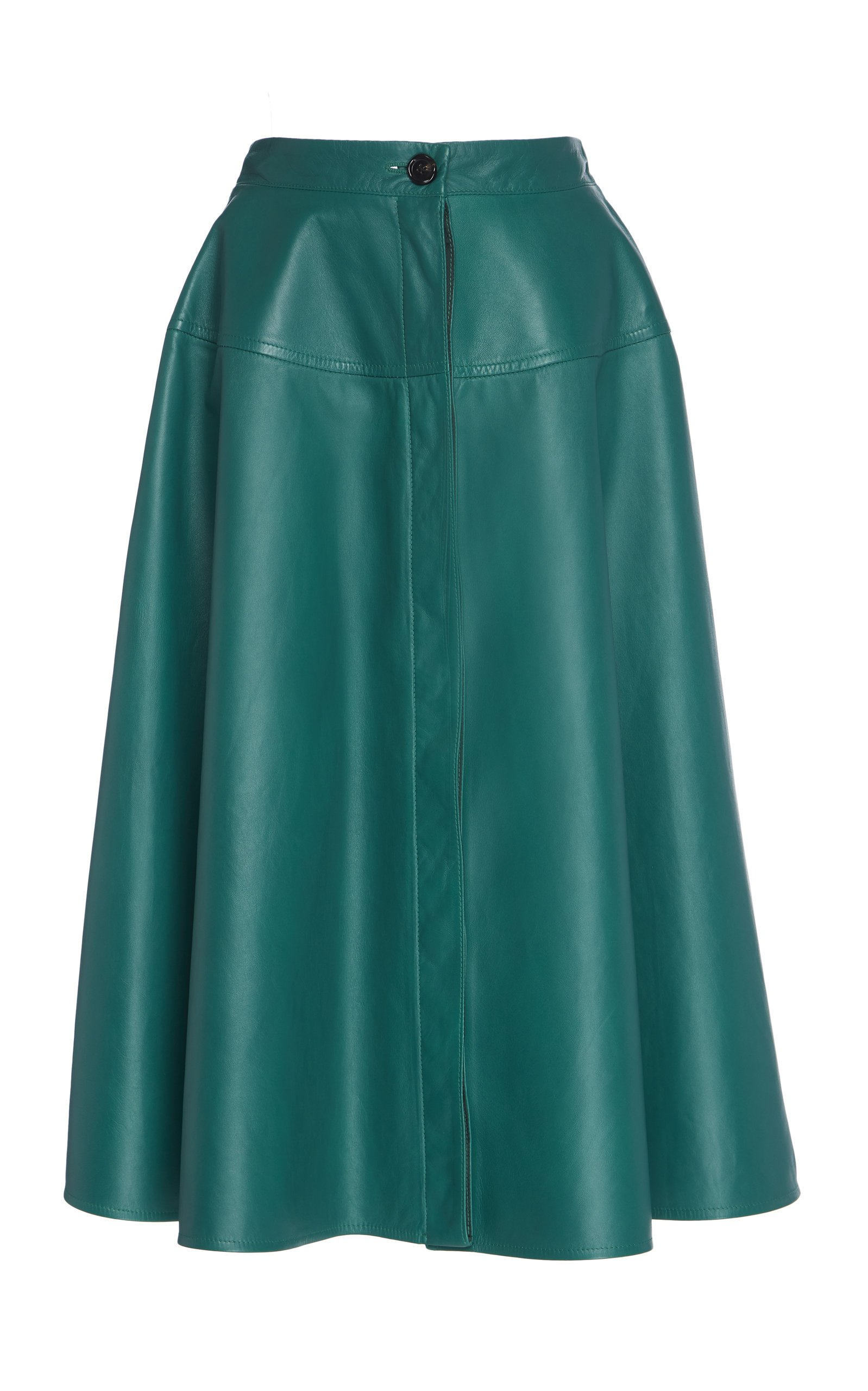 Marni Buttoned Leather Midi Skirt