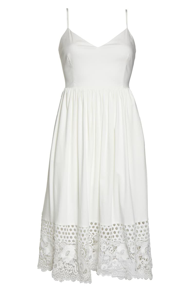 French Connection Salerno Lace Border Sundress | Nordstrom