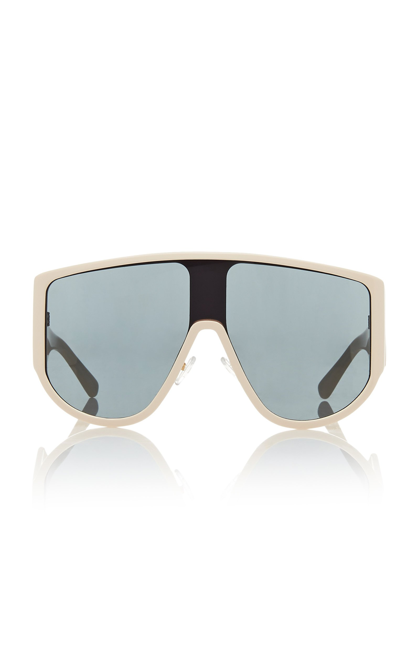 Attico x Linda Farrow Iman Acetate Shield Sunglasses