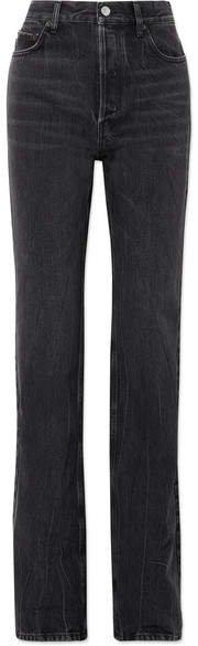 High-rise Straight-leg Jeans - Black