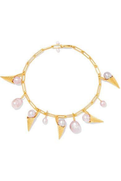 Pernille Lauridsen | Gold-plated pearl bracelet | NET-A-PORTER.COM
