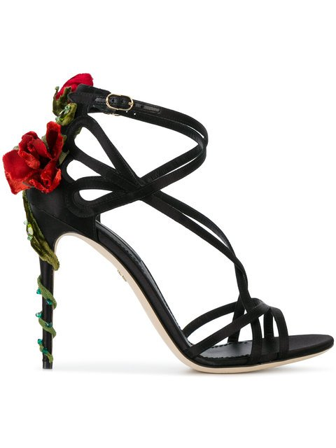 Jewel Keira Heeled Sandals - Dolce & Gabbana