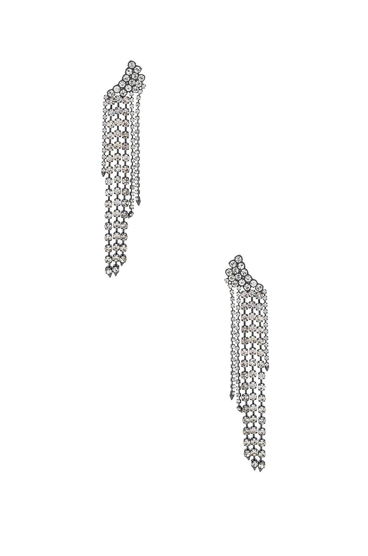 Gemma Winged Crystal Fringe Earrings