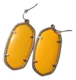Kendra Scott Yellow Danielle Earrings - Tradesy