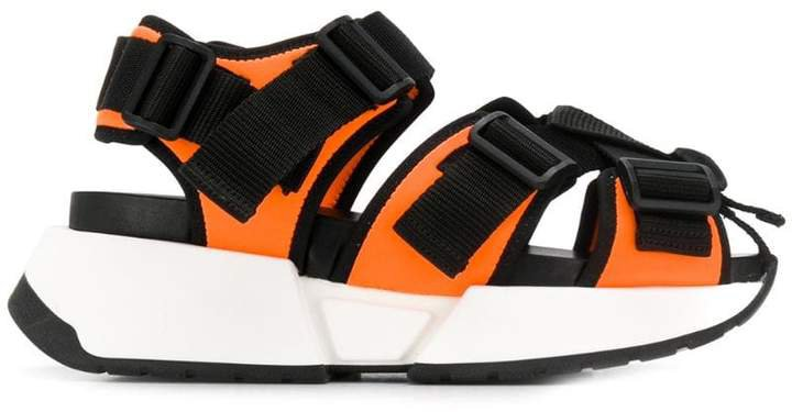 Safety Strap platform sandals