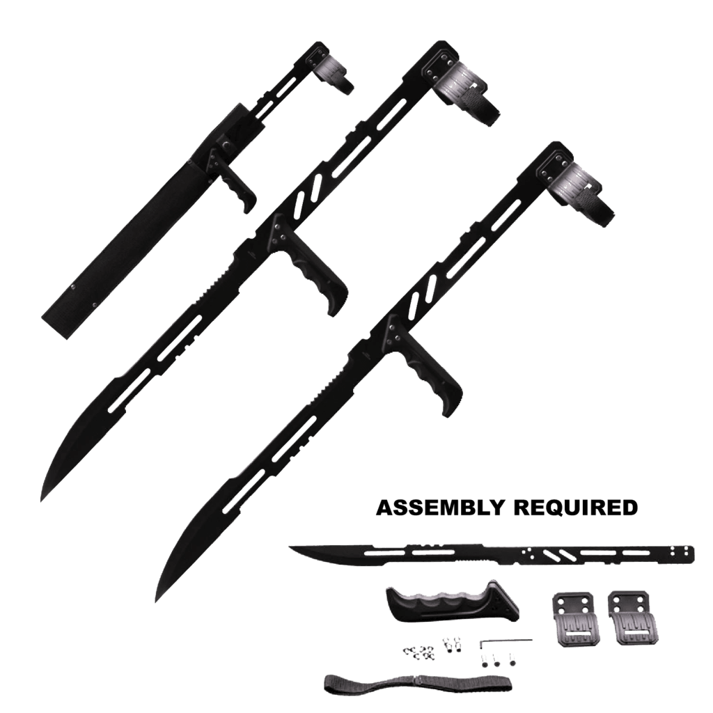 Dual Wield Black Ninja Sword with Handle (Sheath Included) – Panther Wholesale