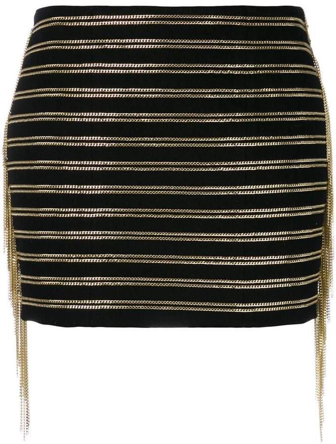 chain embellished skirt
