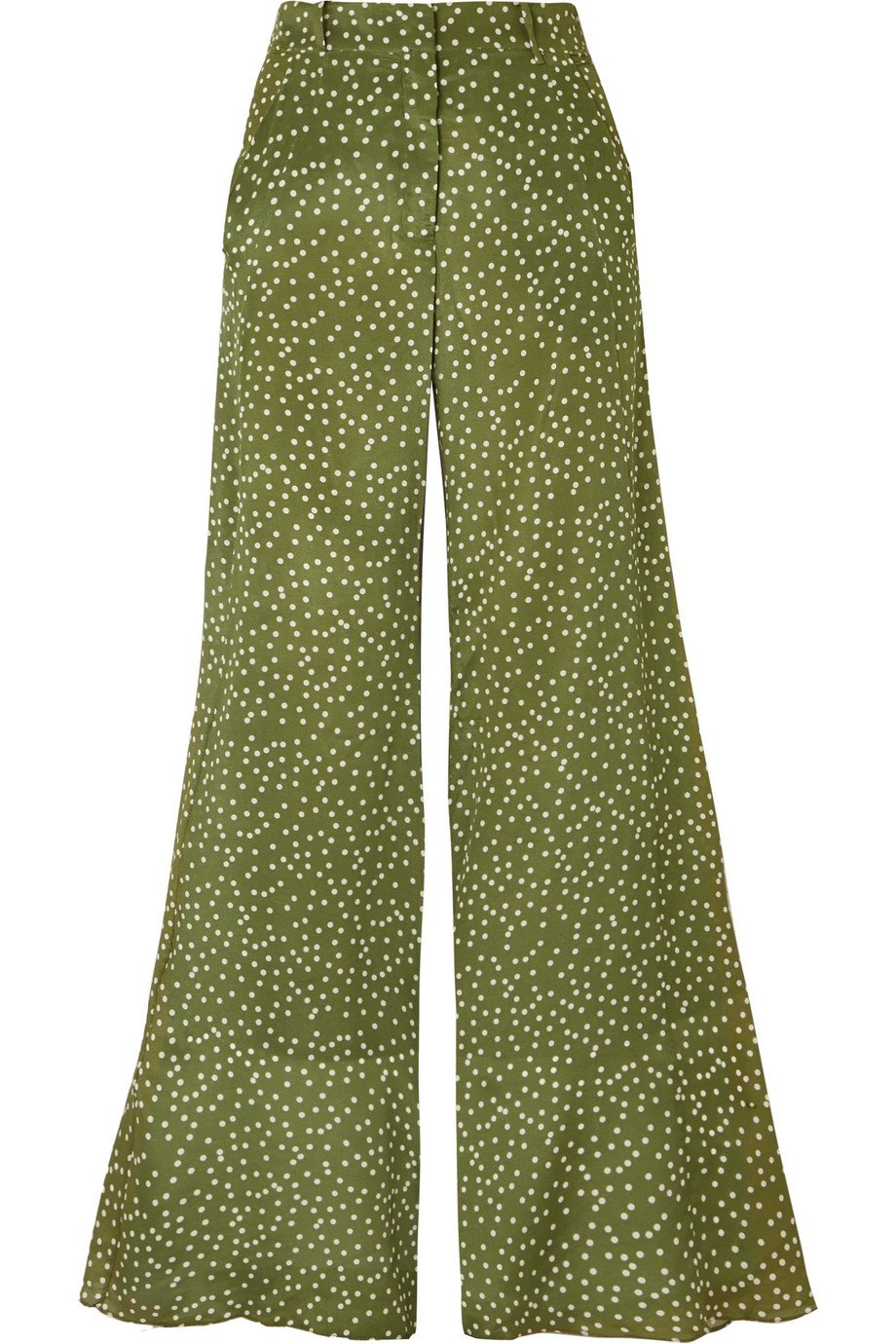 Adriana Degreas | Millie Punti polka-dot silk crepe de chine wide-leg pants | NET-A-PORTER.COM