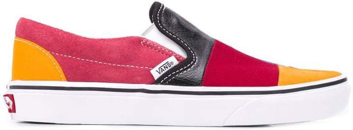 classic slip-on patchwork sneakers