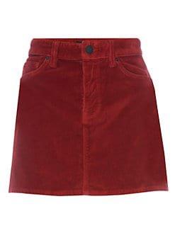 Hudson Jeans Viper velvet skirt