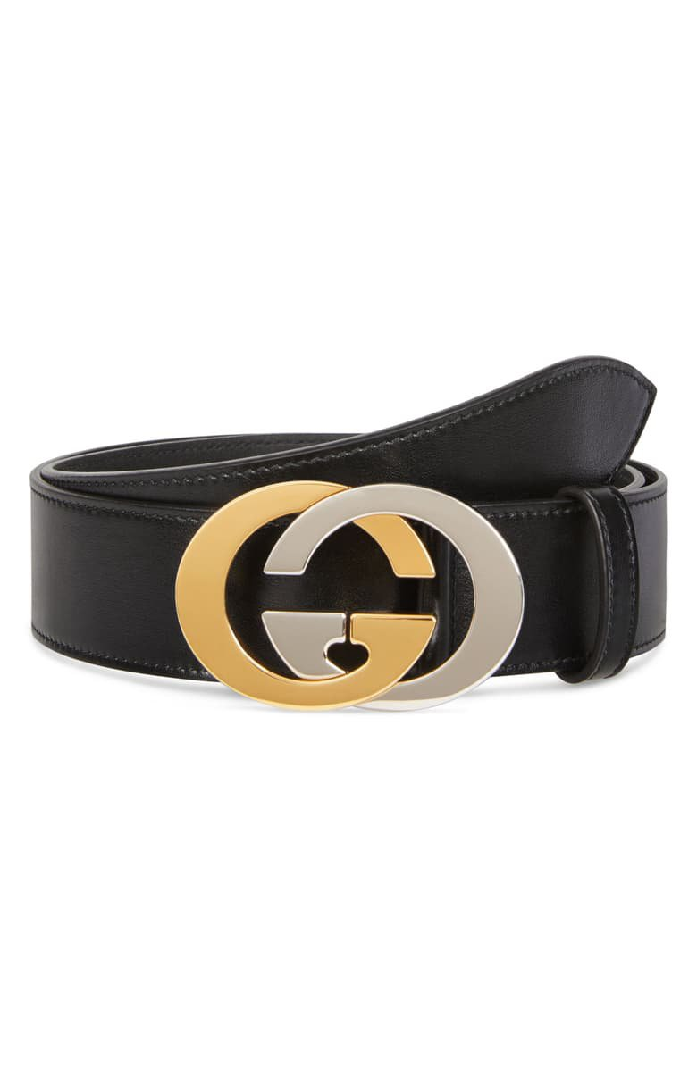 Gucci Two-Tone GG Buckle Leather Belt | Nordstrom