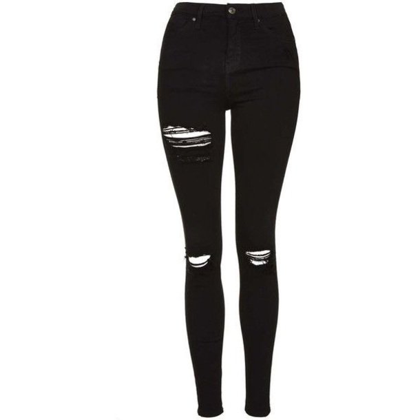 black high waisted jeans ripped - Google Search