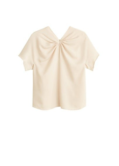 MANGO Pleat satin top