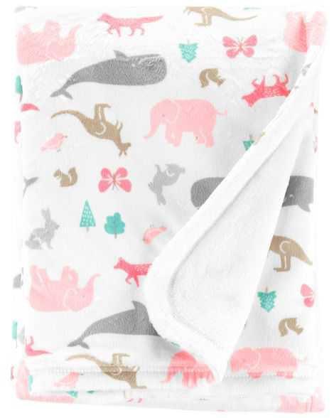 Baby Girl Animal Plush Blanket | Carters.com