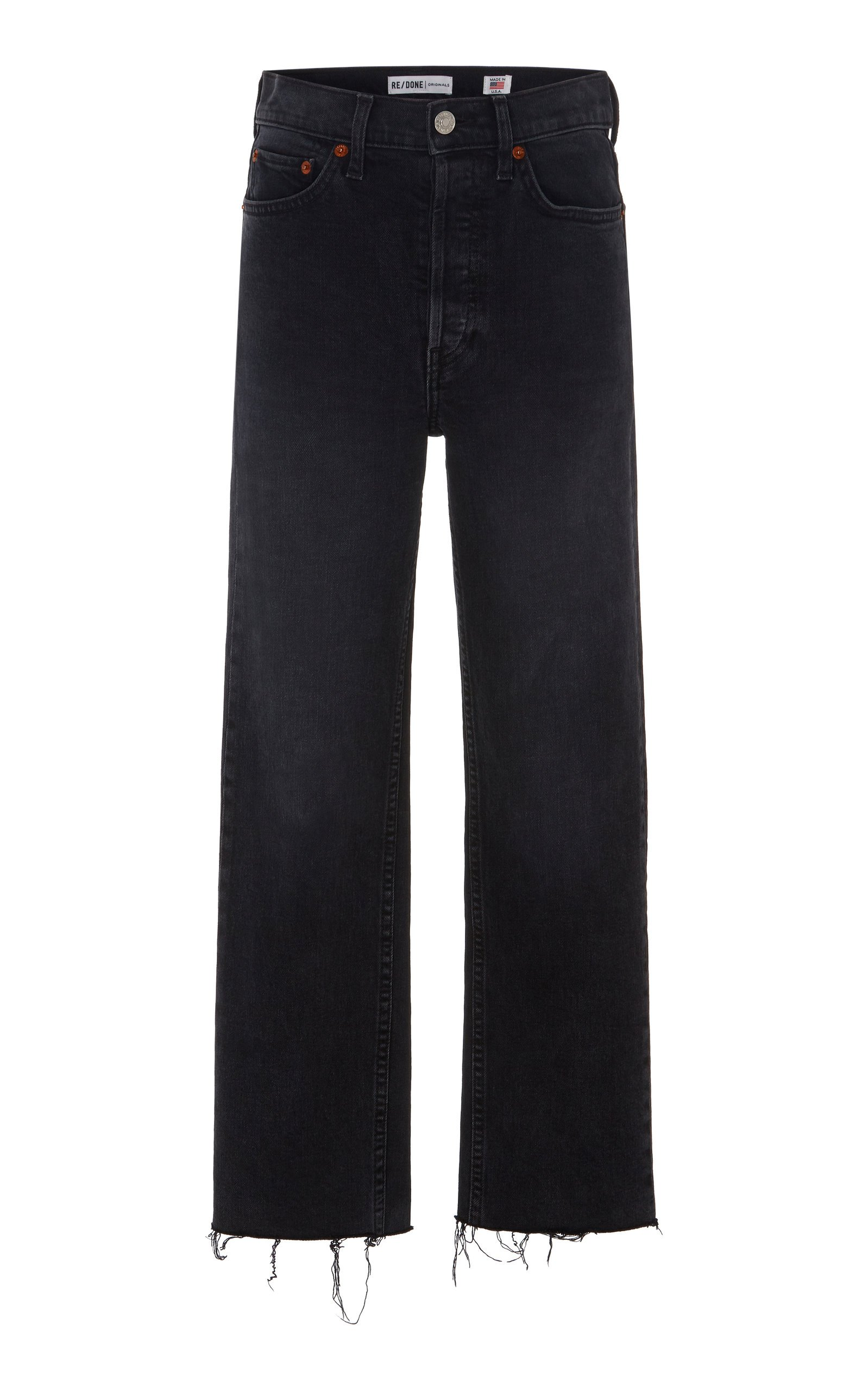 Re/done Stovepipe Cropped High-Rise Jeans