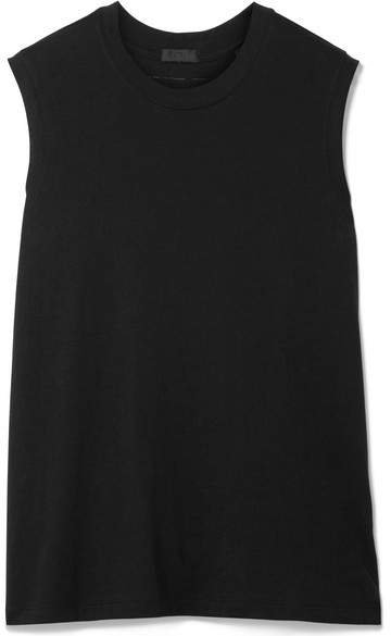 Boy Cotton-jersey Tank - Black
