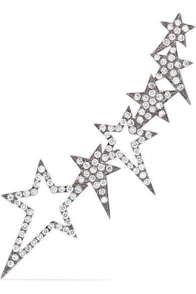 Diane Kordas | Star 18-karat rose gold diamond ear cuff | NET-A-PORTER.COM