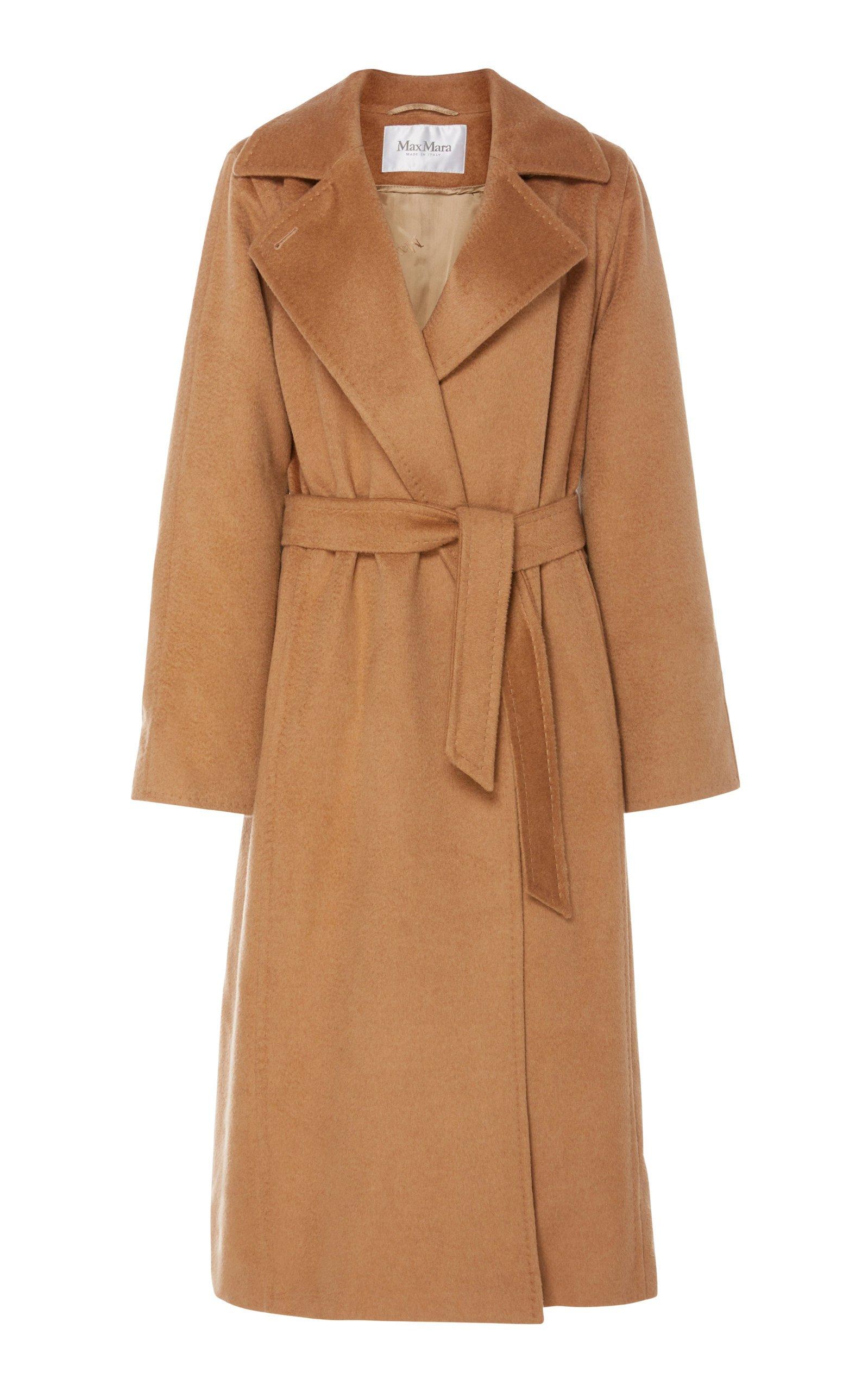 Manuela Belted Camel Hair Coat by Max Mara | Moda Operandi