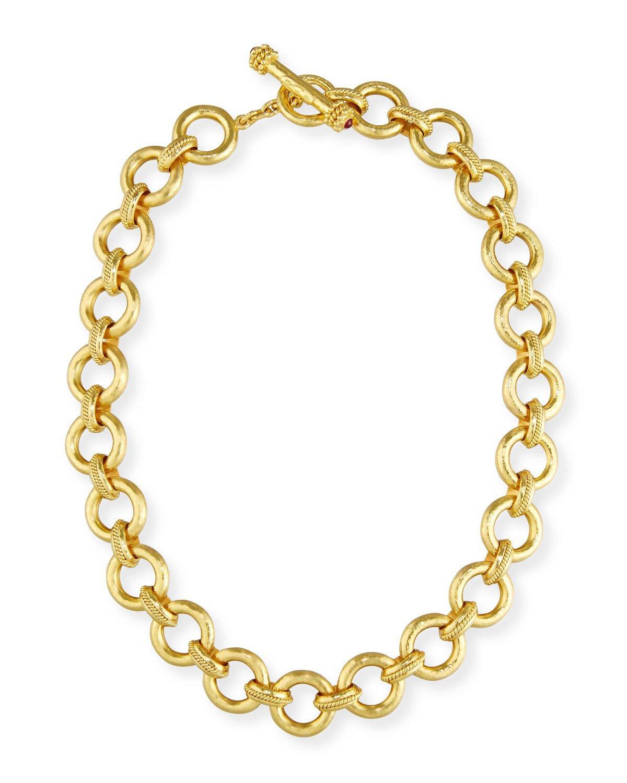 """Elizabeth Locke 17"""" 19K Gold Ravenna Link Necklace"""