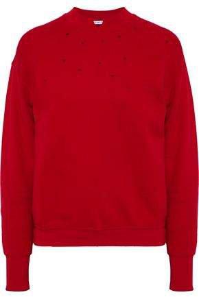 Distressed Cotton-terry Sweatshirt