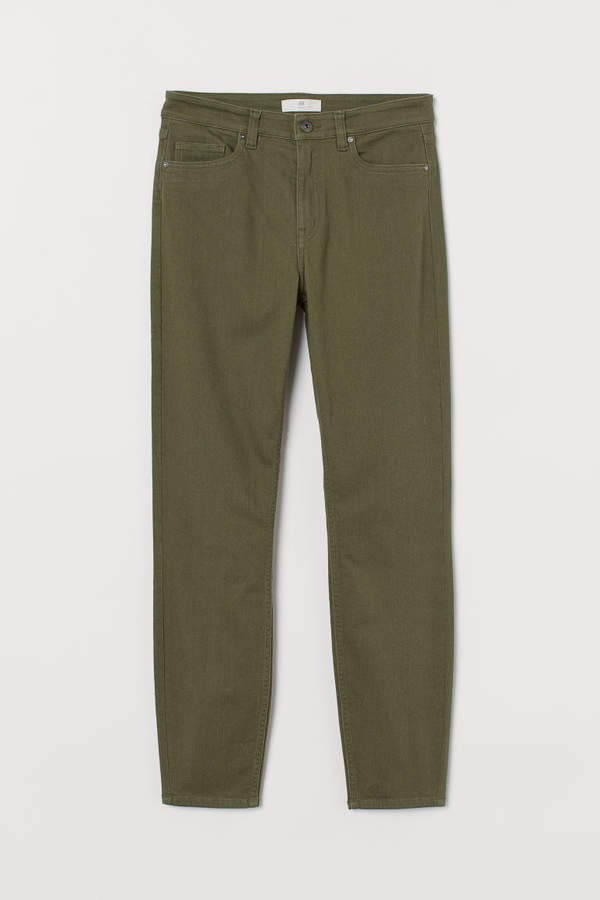 Slim-fit Pants - Green