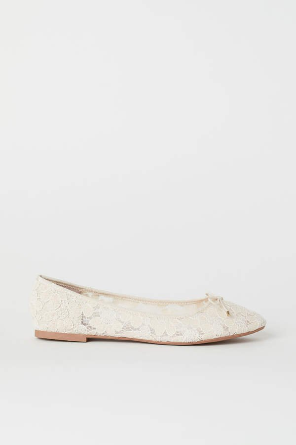 Ballet Flats - White