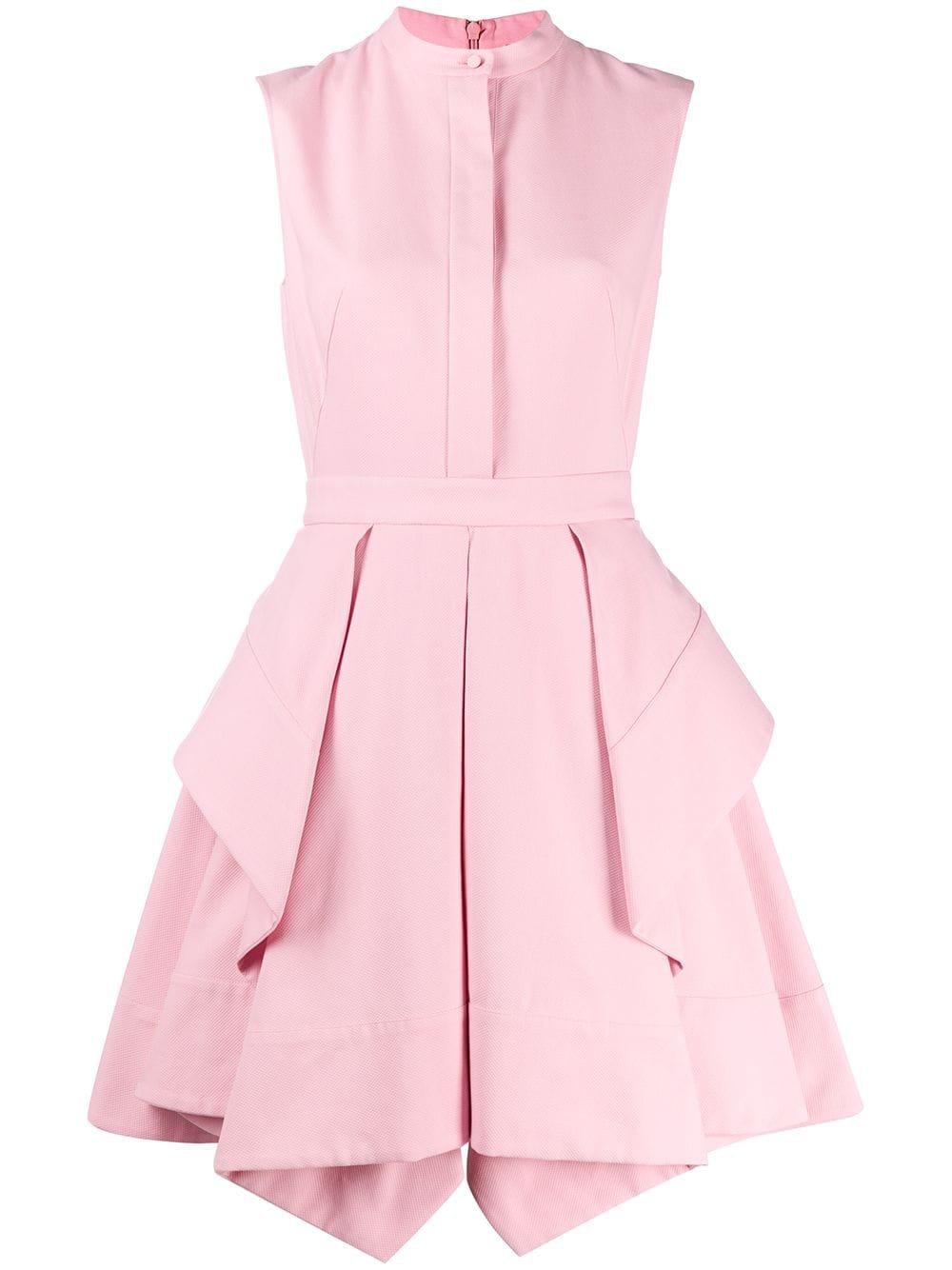 Alexander Mcqueen Draped Short Dress   Farfetch.com