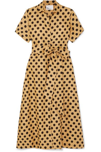 Lisa Marie Fernandez | Polka-dot linen midi dress | NET-A-PORTER.COM