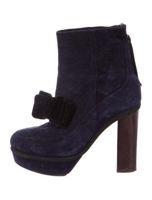 Marni Suede Platform Booties - Shoes - MAN78500 | The RealReal