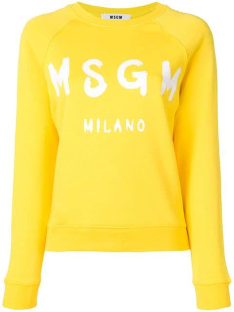MSGM logo print sweatshirt $155 - Buy SS19 Online - Fast Global Delivery, Price