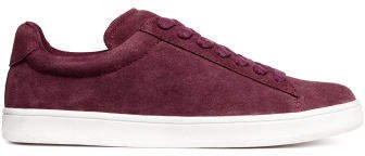 Suede trainers - Red
