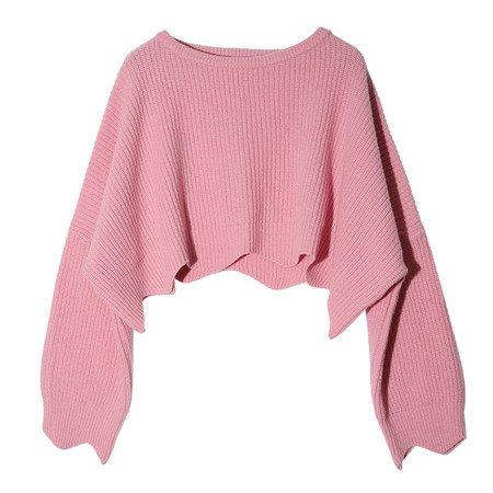 light pink crop sweater