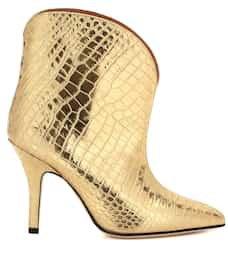Paris Texas - Metallic leather ankle boots | Mytheresa