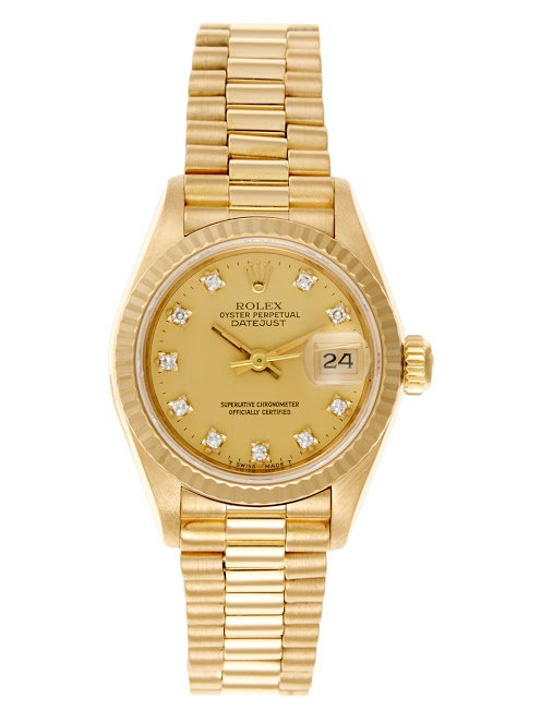 Rolex Ladies Yellow Gold Date-Just Watch