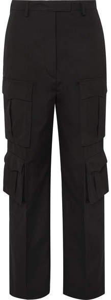 Cotton-gabardine Cargo Pants - Black
