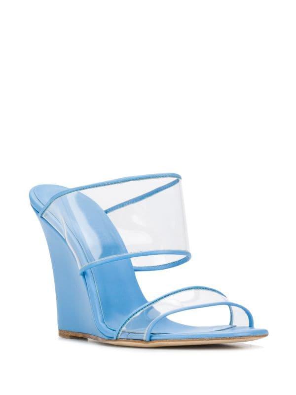 Paris Texas Wedge Heel Sandals - Farfetch