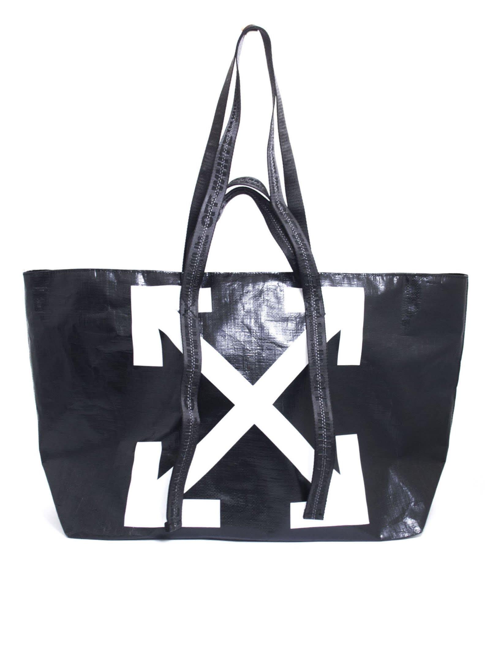 Off-White Black Tote Bag