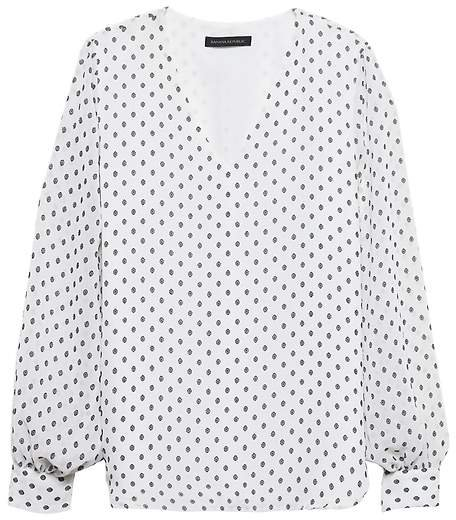 Polka Dot High-Low Top