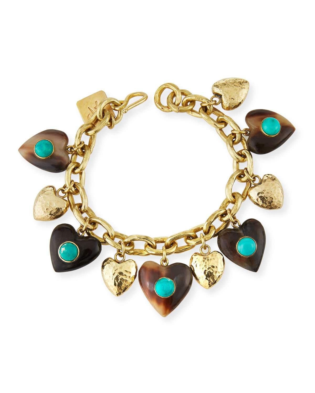Ashley Pittman Makundi Heart-Charm Bracelet