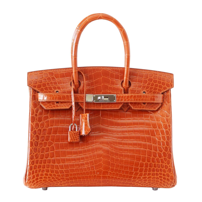 Hermes Birkin croco orange