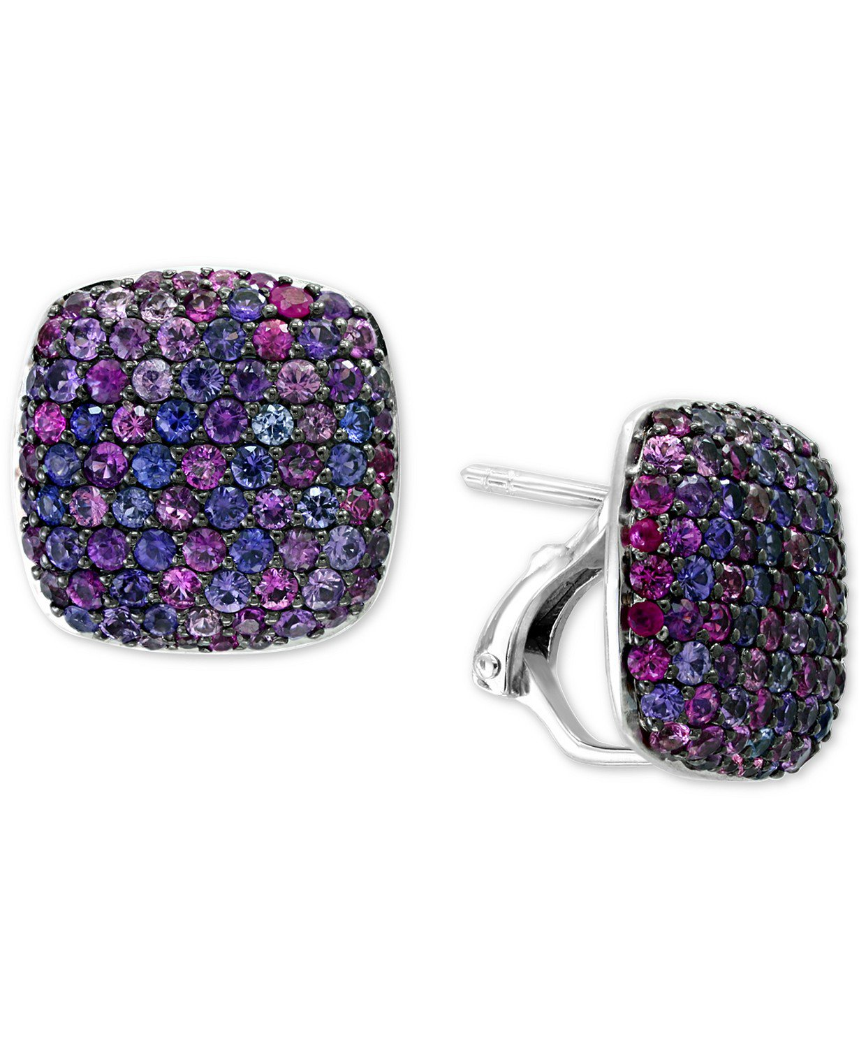 EFFY® Sterling Silver Purple Sapphire Stud Earrings