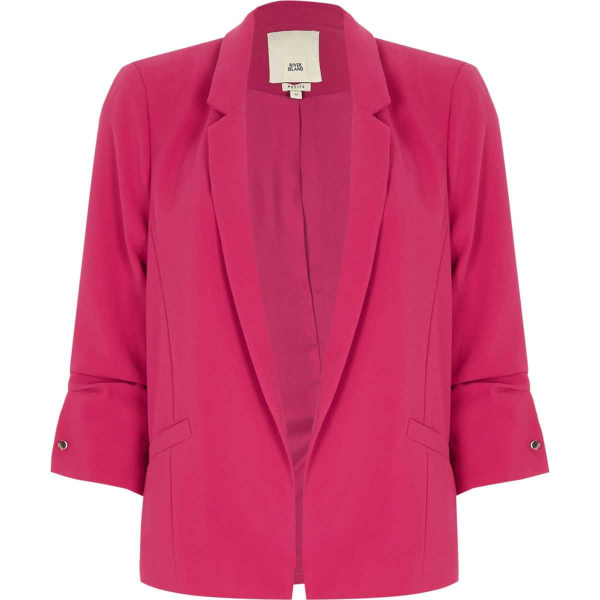 Petite bright pink bar cuff blazer - Coats & Jackets - Sale - women