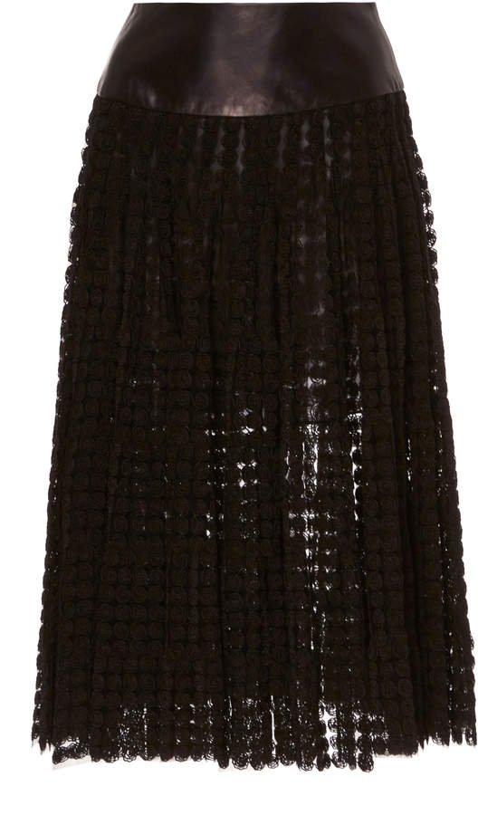 SOONIL Haze Tulle Pleated Skirt Size: 0